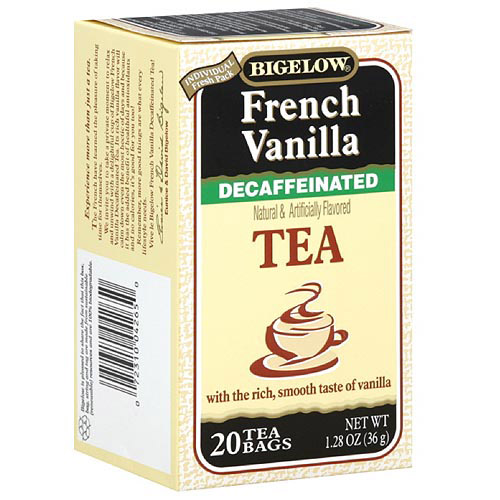 Bigelow French Vanilla Decaffeinated Tea, 1.28 oz (Pack of 6)