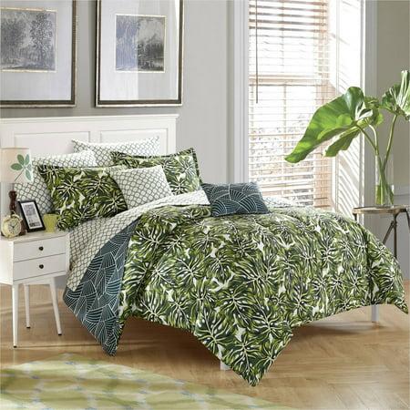 StyleNest Palm Leaf Bed in a Bag Bedding Set, Full