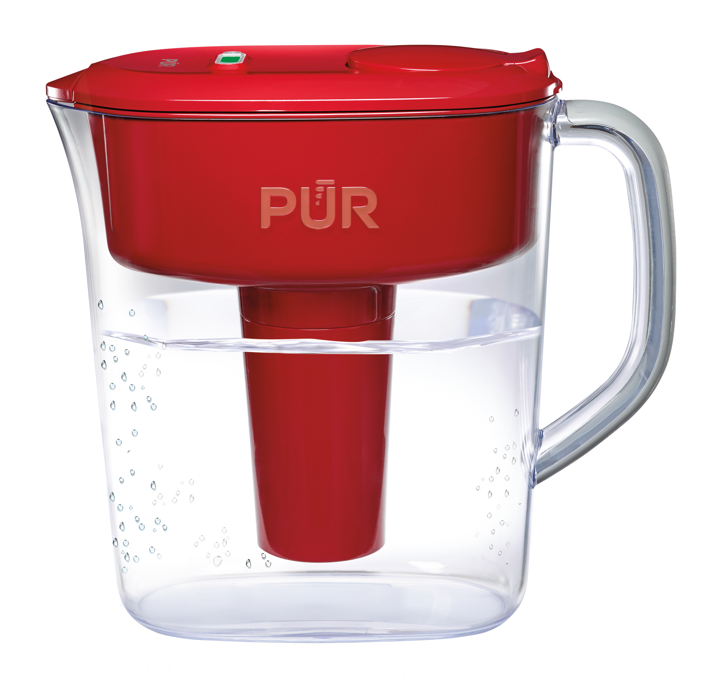 PUR Ultimate Pitcher Water Filter with Lead Reduction 11 Cup, PPT111R, Red