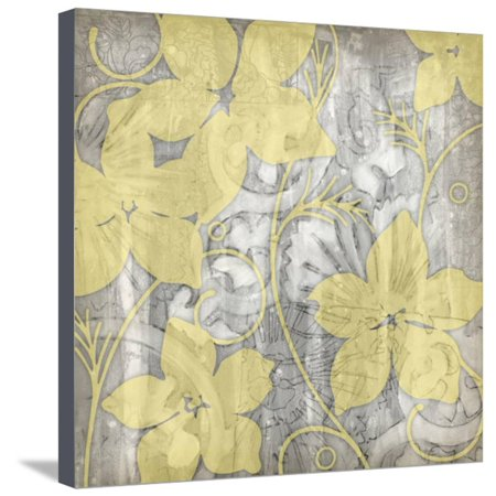 Yellow and Gray I Stretched Canvas Print Wall Art By Jennifer Goldberger ()