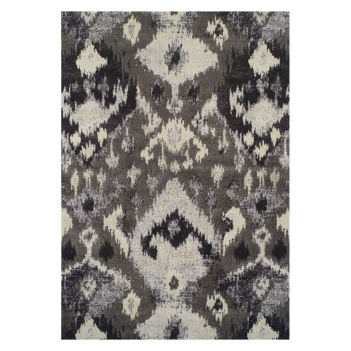 Dalyn Modern Greys Area Rugs - MG525 Transitional Casual Pewter Circle Dots Impressionist Rug