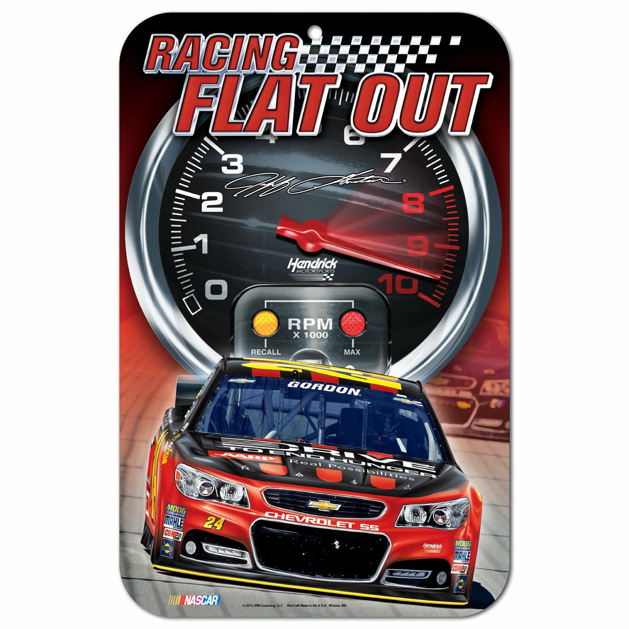 """Jeff Gordon Official Nascar 11"""" x 17"""" Plastic Wall Sign 11x17 by Wincraft 248930 by Wincraft"""