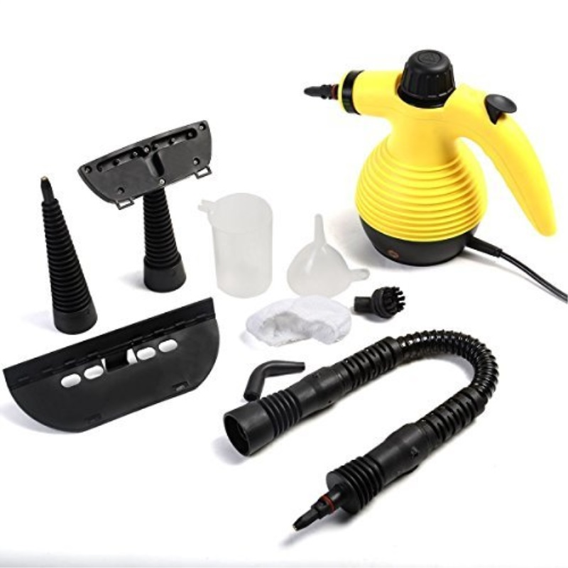 1050w Handheld Steam Cleaner Portile Multi Purpose Steamer with Attachments New
