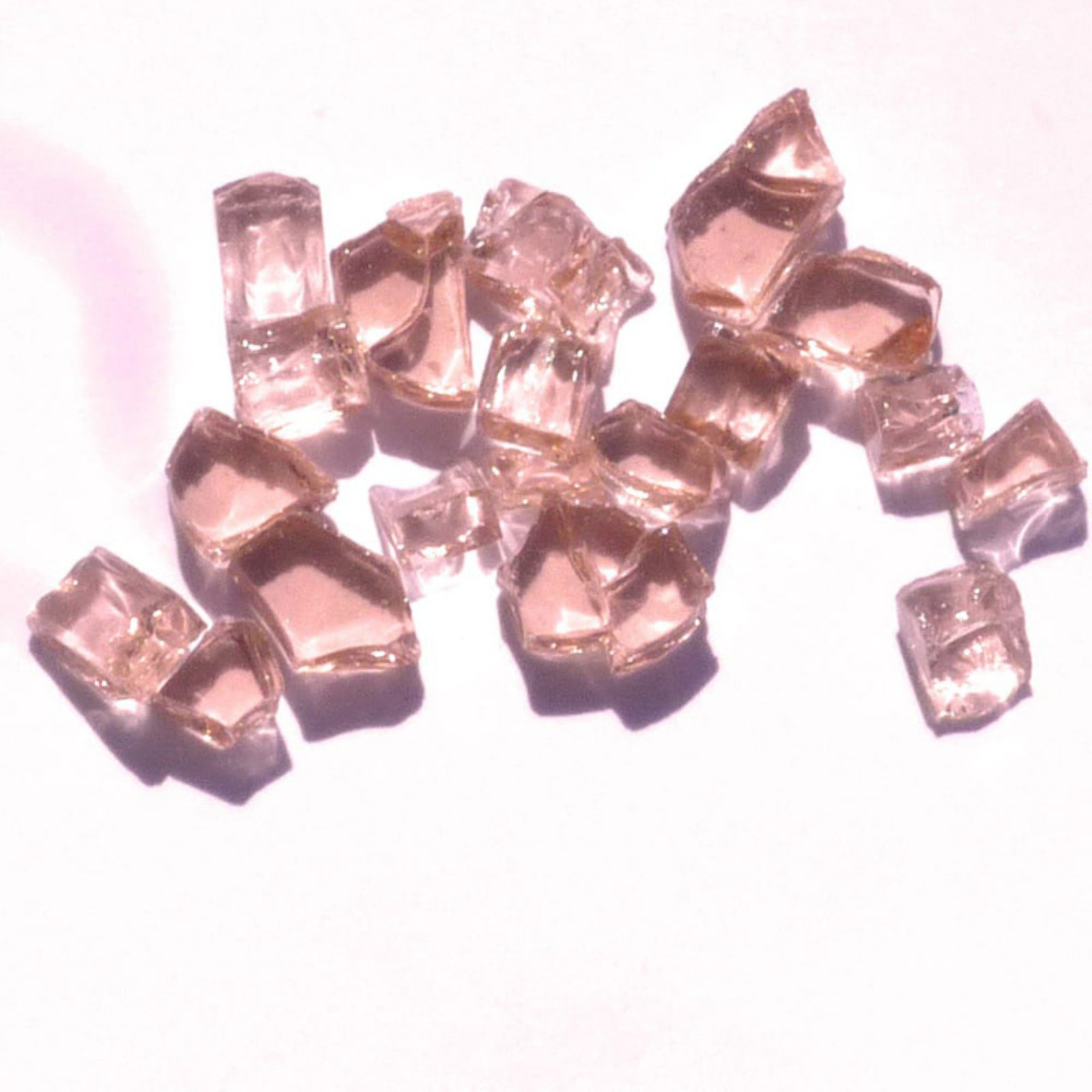 Tretco Rose Fire Glass Crystals