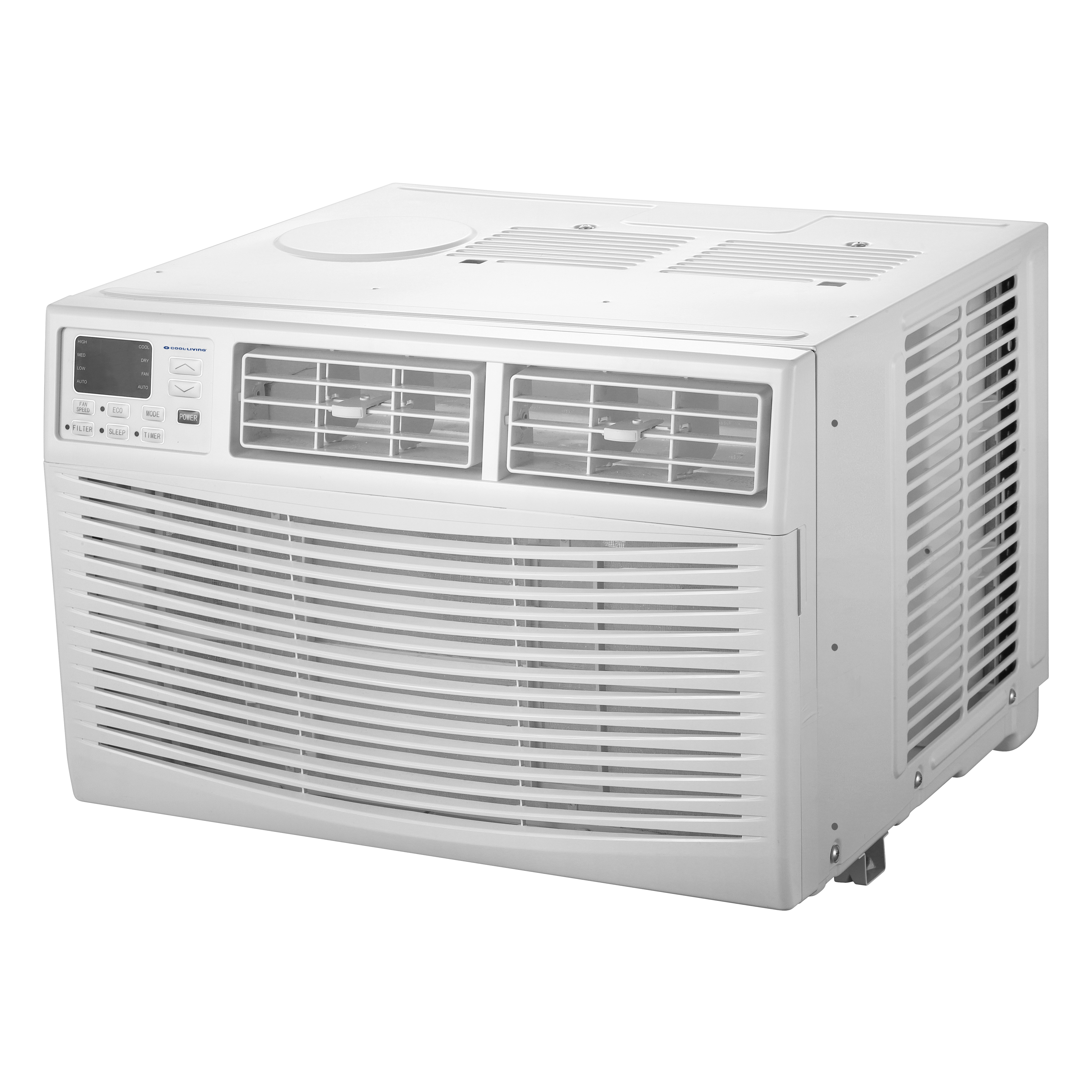 Cool-Living 15,000-BTU Window Air Conditioner with Digital Display and Remote, White