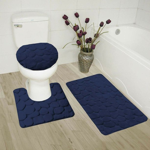 Shiny Soft Plush Bathroom Mat
