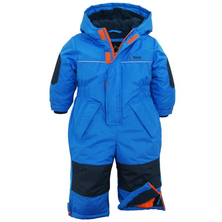 Winter Snowsuit (iXtreme Baby Boys Snowmobile Polar Fleece Lined One Piece Winter Solid Snowsuit )