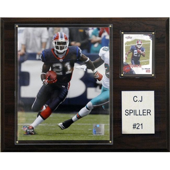 C & I Collectables 1215SPILLER NFL Buffalo Bills Player Plaque