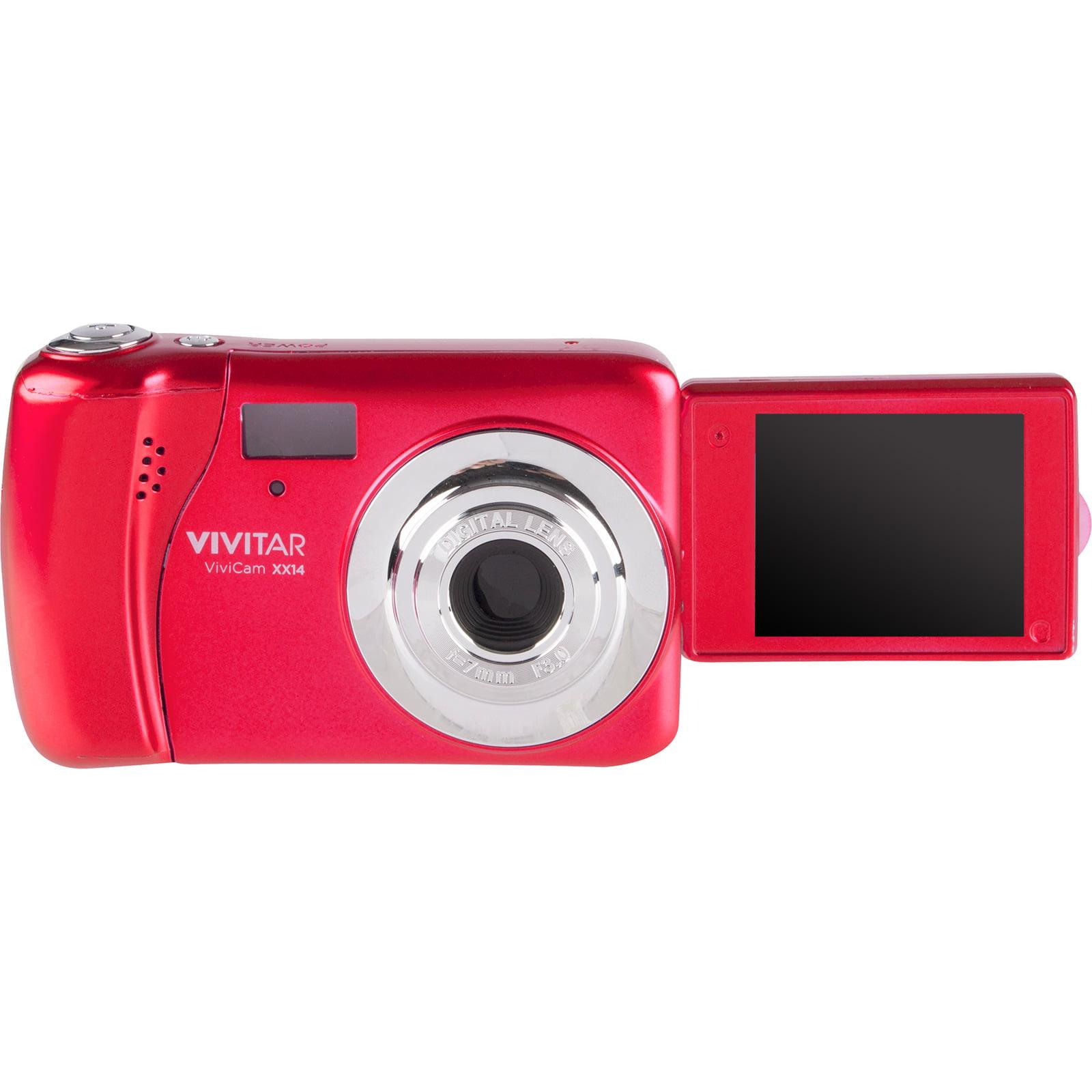 Vivitar ViviCam VXX14 Selfie Digital Camera (Red) with 16GB Card + Case + Tripod + Reader + Kit by Vivitar