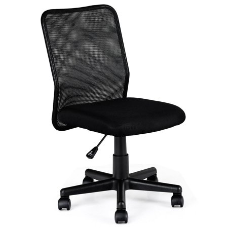 Costway Mid-back Adjustable Ergonomic Mesh Swivel Computer Office Desk Task Chair ()