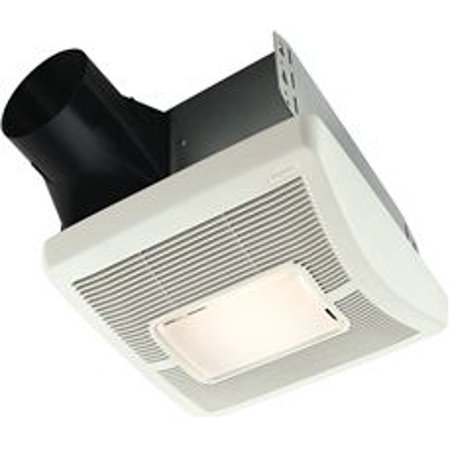 Broan Invent Single-Speed Bathroom Exhaust Fan With Light, 70 Cfm, 2.0 Sones, 11-7/16 X 12-1/8 In., White