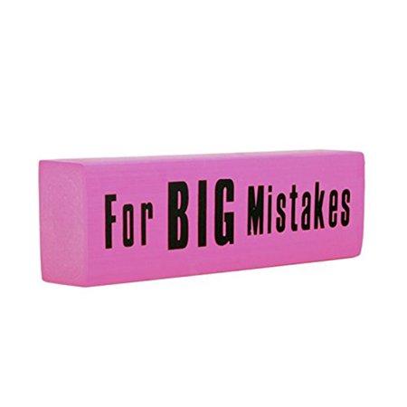 Giant Jumbo Pink Eraser For Big Mistakes (Big Erasers)