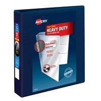 "Avery 1-1/2"" Heavy Duty View Binder, EZD Ring, Navy, 400 Sheets"