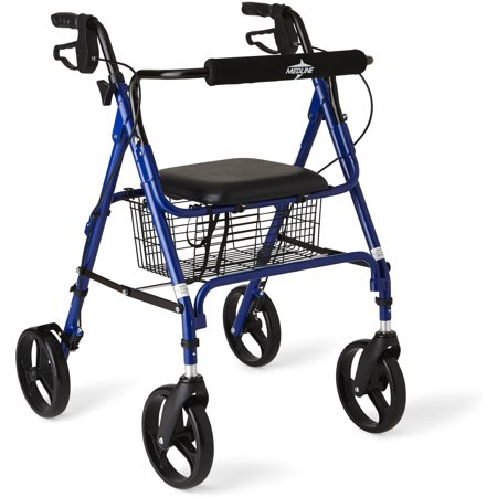 Medline Deluxe Foldable Rollator Walker with 8