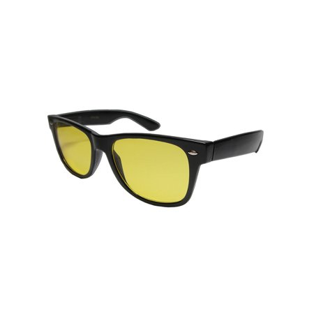 Night Driving Yellow Lens Vision Spring Temple 100% UVA UVB Sun Glass - (How To Replace Sunglass Lenses)