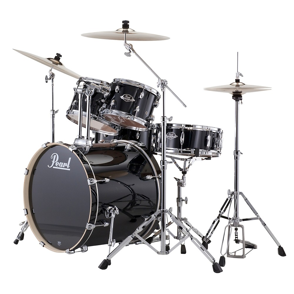 Pearl Export New Fusion 5-Piece Drum Set with Hardware Jet Black by Pearl