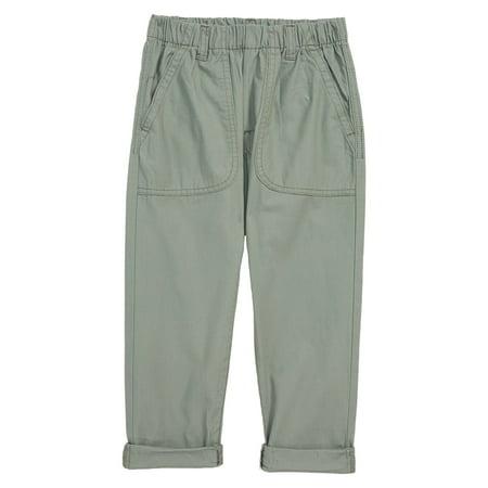 Agave Girls Elastic Cuffed Pull On Twill Pants 6