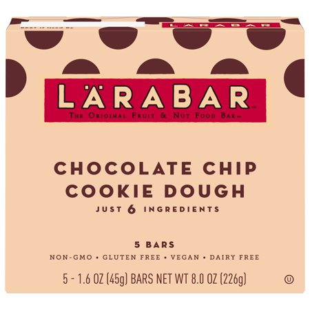 Larabar Gluten Free Chocolate Chip Cookie Dough 1 6 oz - Walmart com
