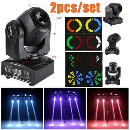 Sonew 2pcs/set 30W LED Moving Head Stage Light DMX512 Disco Clubs Party KTV Effect Lights 110V,8 Patterns + Shake + Pattern Rotation Speed, 8 Colors + Half Color Effect + Color Rotation (Ball Speed To Club Head Speed Conversion)