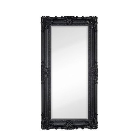 Majestic mirror large traditional black rectangular for Big black wall mirror