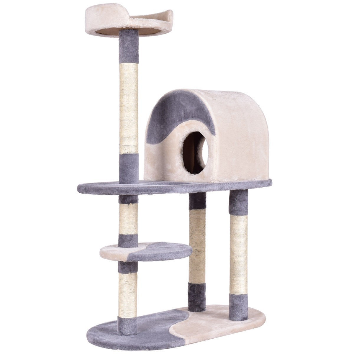 "48"" Kitten Activity Tower Cat Tree w  Scratching Posts Gray by"