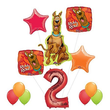 Scooby Doo 2nd Birthday Party Supplies and Balloon - Scooby Doo Birthday Supplies