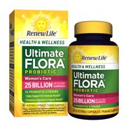 Renew Life Women's Care Probiotic, Ultimate Flora Health & Wellness, 25 Billion, 30 Capsules