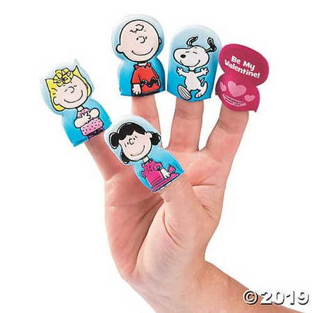 Peanuts® Valentine Finger Puppets](Peanuts Valentine)