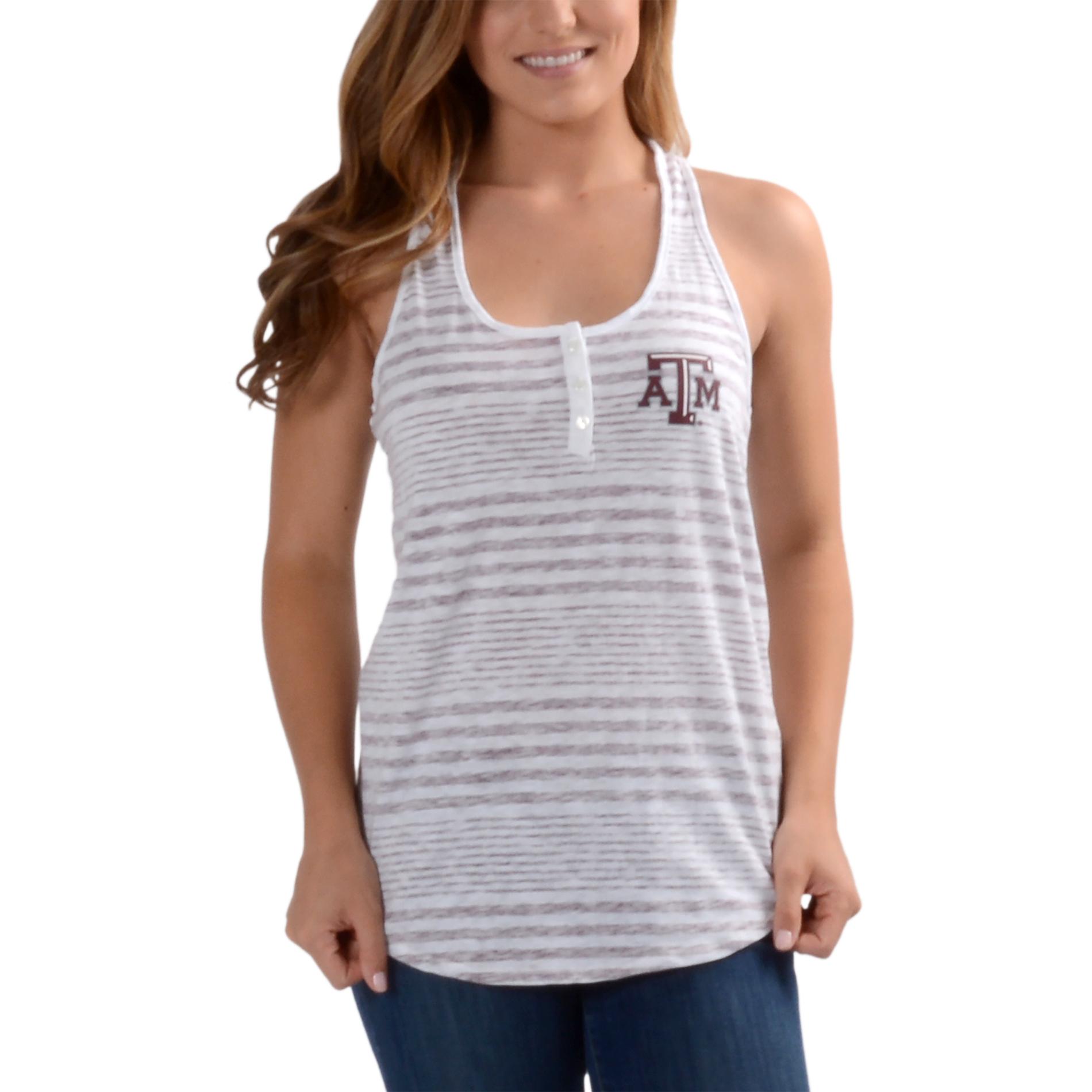 Women's White Texas A&M Aggies Primary Logo Tank Top