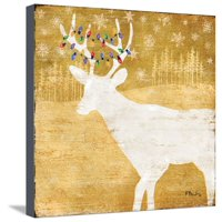 Gold Holiday II Stretched Canvas Print Wall Art By Paul Brent