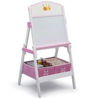 Delta Children Princess Crown Wooden Activity Easel with Storage - Ideal for Arts & Crafts, Drawing, Homeschooling and More