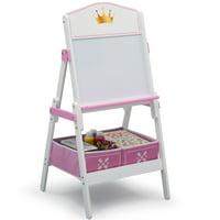 Delta Children Princess Crown Wooden Activity Easel with Storage