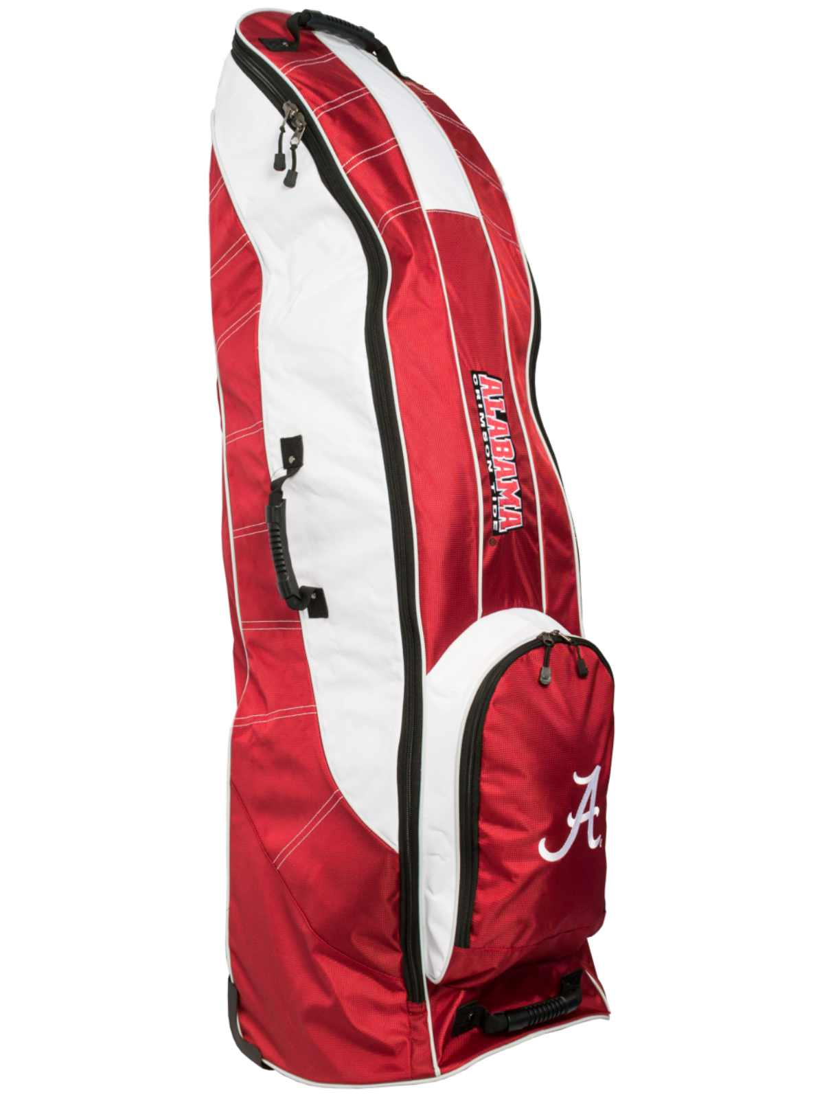 Click here to buy Alabama Crimson Tide Team Golf Red Golf Clubs Wheeled Luggage Travel Bag.