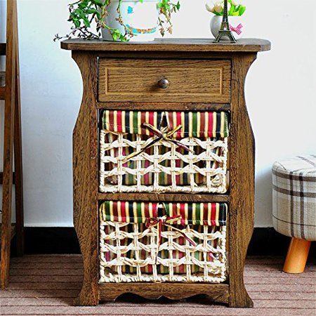 Millwood Pines Steinberger Classic Countryside Wood Storage 1 Drawer Nightstand