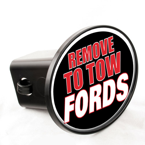 "Knockout Decals - ""Remove To Tow Fords"" Hitch Cover"