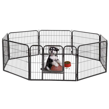 BestPet 24 8 Panel Pet Playpen Heavy Duty Dog Exercise Pen Cat Fence](Dog Faces For Halloween)