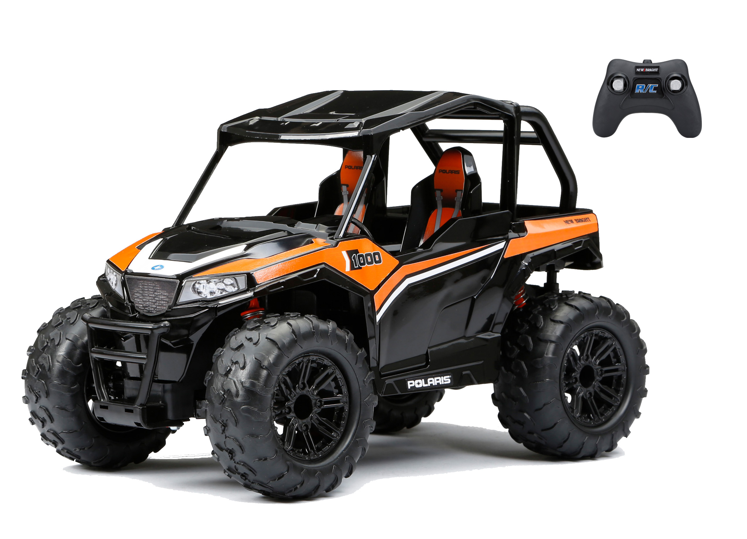 New Bright 1:14 Radio Control Polaris® General™ ATV - Orange - Walmart.com
