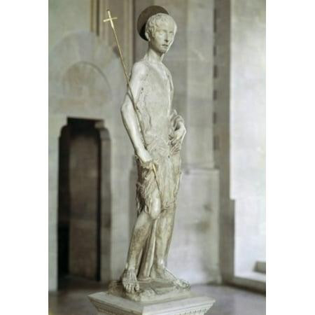 St John the Baptist Donatello (ca1386-1466 Italian) Bargello National Museum Florence Italy...