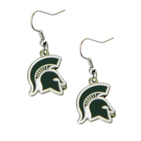 Michigan Wolverines Jewelry (NCAA Michigan State Spartans Sports Team Logo Dangle Earring Set )