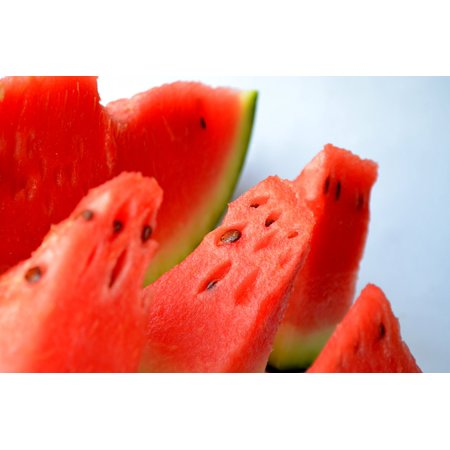 - Canvas Print Watermelon Melon Cut Red Sliced Fresh Fruits Stretched Canvas 10 x 14