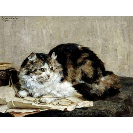 A Tabby Cat Poster Print by  Charles Van Den