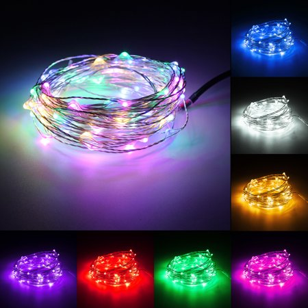 10M RGB Remote Control 100Leds Xmas Wedding Party Decor Fairy String Light IP67 Without Adapter ()
