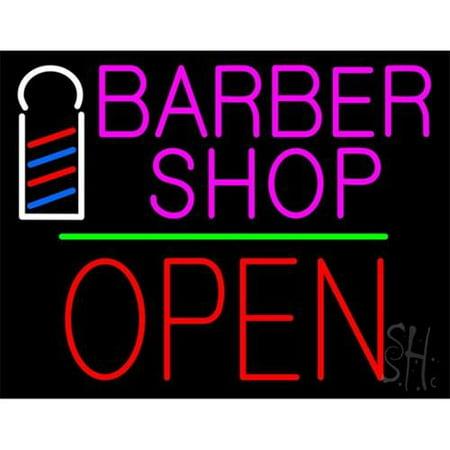 Barber Shop In Walmart : ... Barber Shop Logo Outdoor Neon Sign, 31 x 24 x 3. 5 inch - Walmart.com
