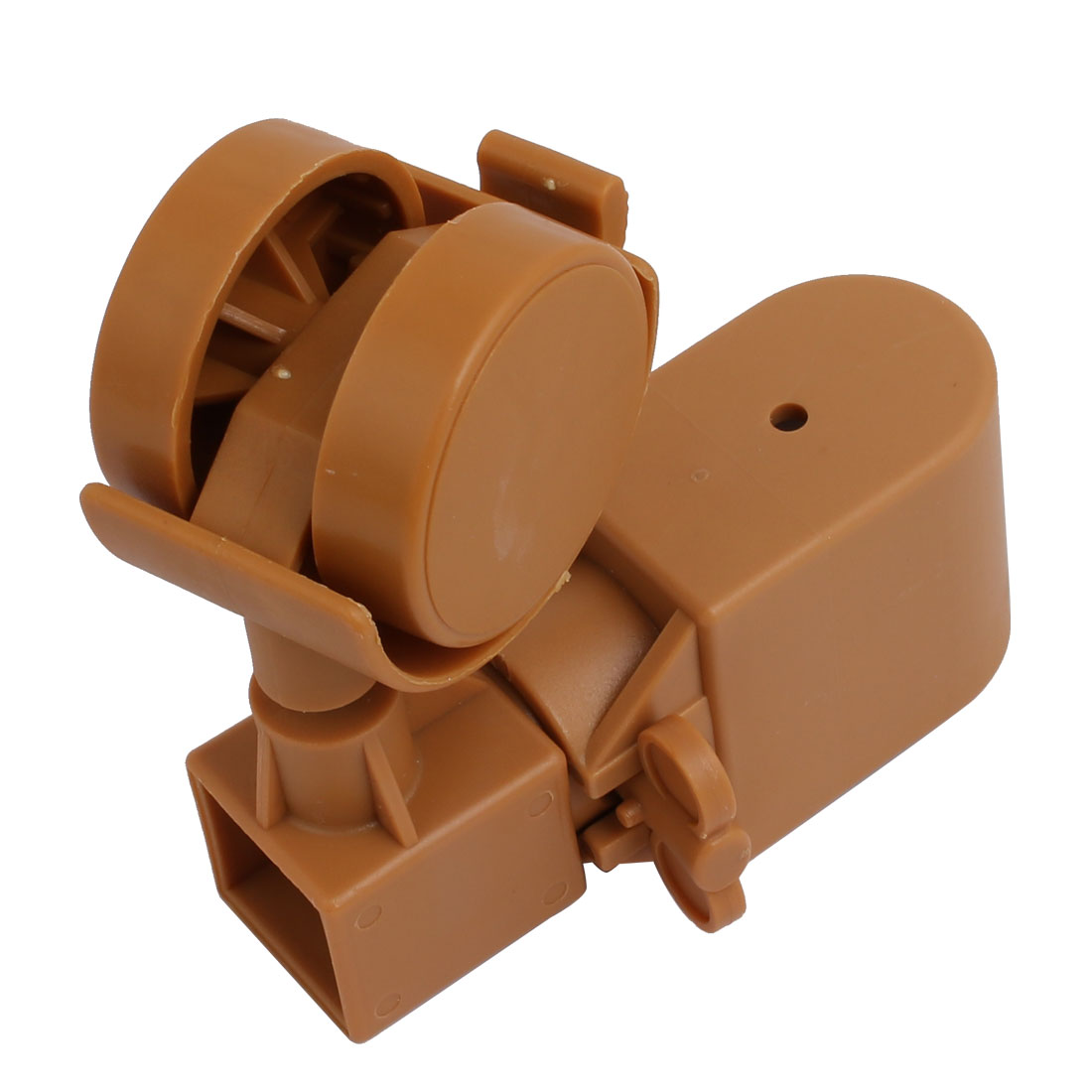 2pcs 1.5-inch Dia Plastic Swivel Caster Wheel  Fittings w Brake - image 2 of 4