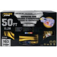 PowerZone Sjtow Tblade Extension Cord, 10/3, 50 Ft
