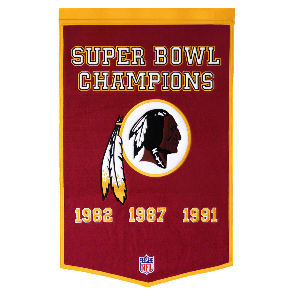 "Washington Redskins 24""x36"" Wool Dynasty Banner"
