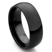 Titanium Kay Black Tungsten Carbide Comfort Fit Mens Wedding Band Ring Sz 10.0