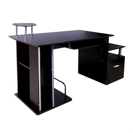 Computer Pc Table Home Study Office Work Desk Workstation Corner Furniture With Keyboard Tray