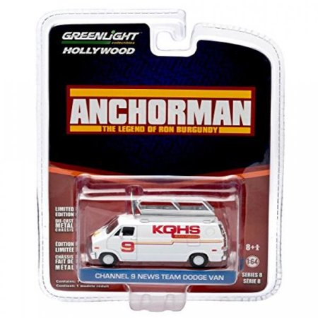 KQHS CHANNEL 9 NEWS TEAM DODGE VAN from the 2004 comedy ANCHORMAN GL Hollywood Series 8 2014 Greenlight Collectibles Limited - Channel 10 News Halloween