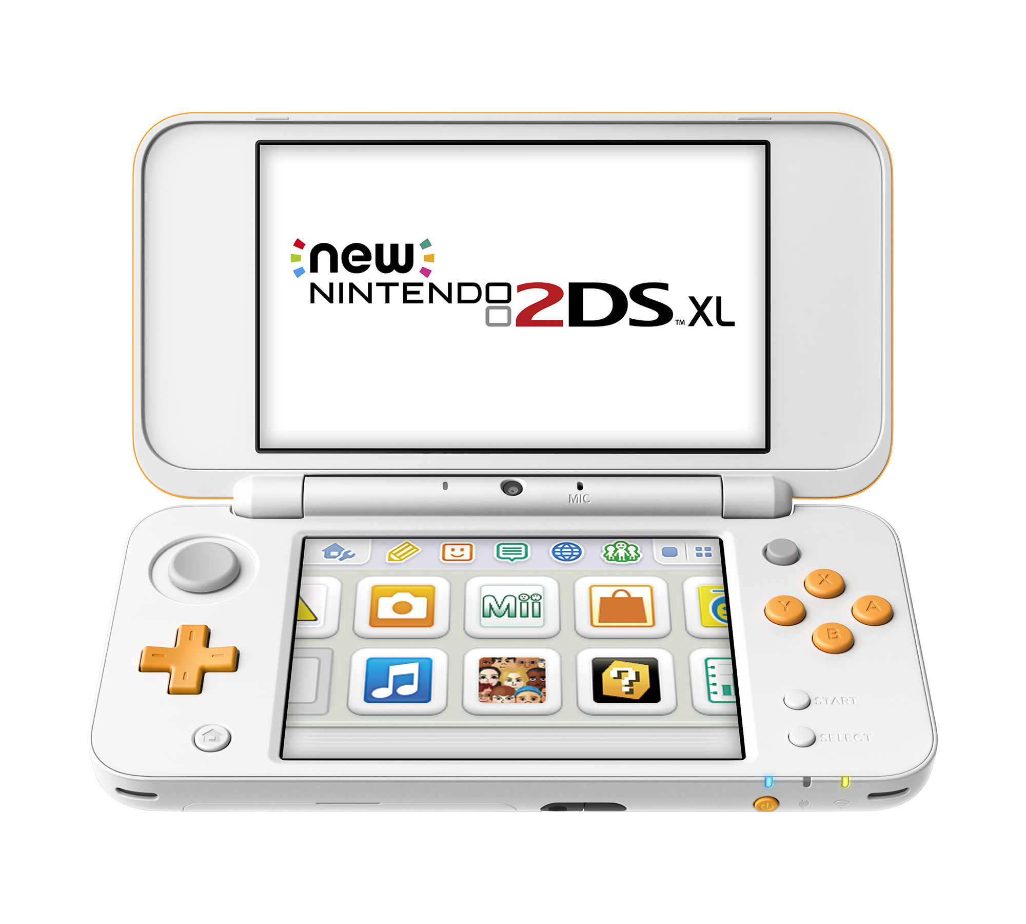 New Nintendo 2DS XL System w  Mario Kart 7 Pre-installed, Orange & White, JANSOAD1 by Nintendo